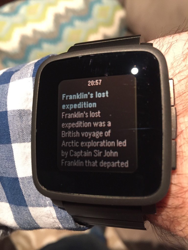 Wikipedia on Pebble Time