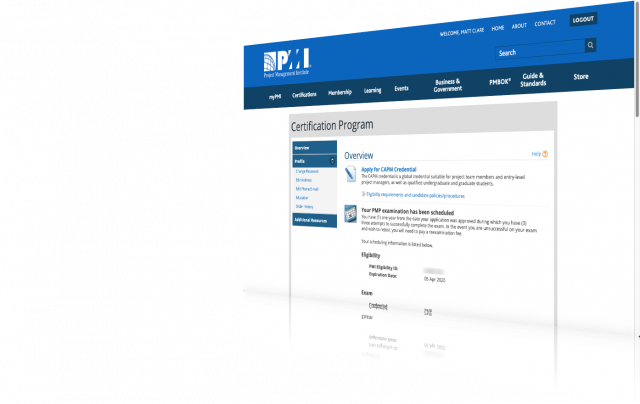 My PMI website